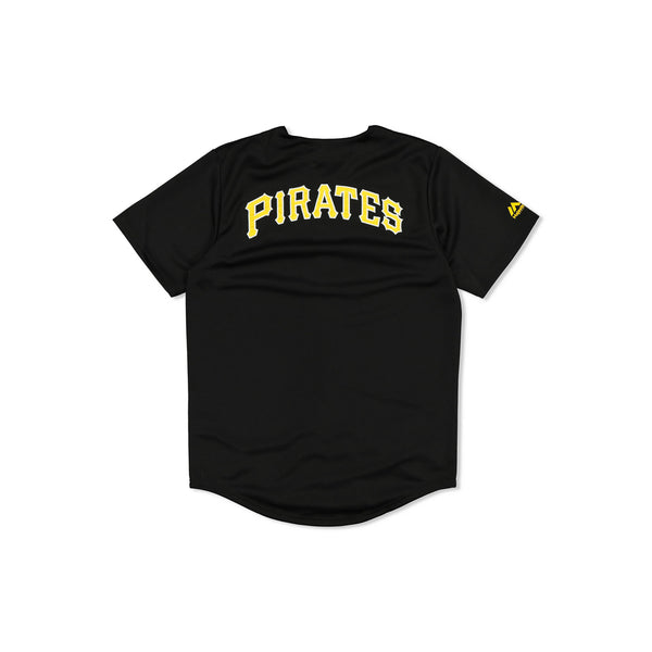 MAJESTIC PITTSBURGH PIRATES BASEBALL JERSEY - BLACK