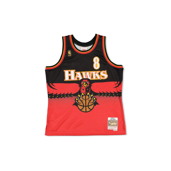 SWINGMAN JERSEY HAWKS SMITH - RED/BLACK