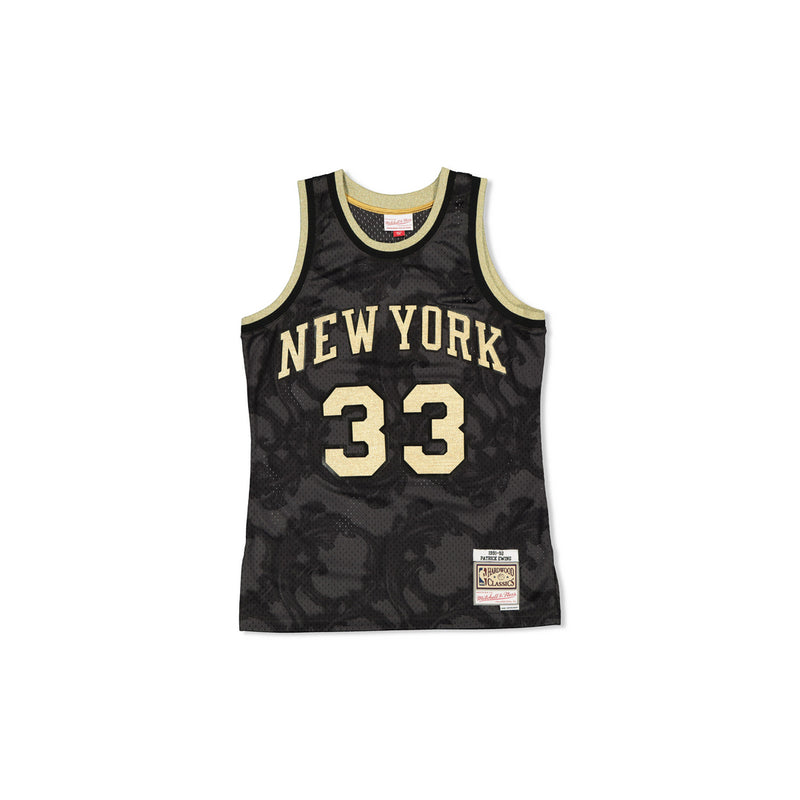 SWINGMAN JERSEY NEW YORK KNICKS EWING - GOLD TOILE