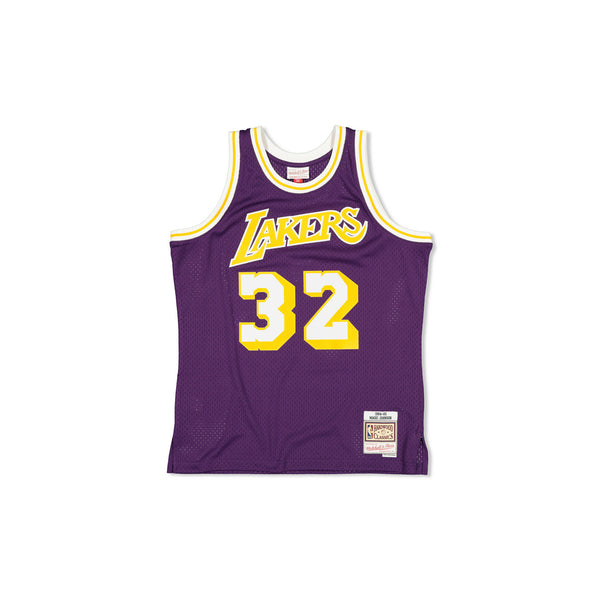 SWINGMAN JERSEY LOS ANGELES LAKERS MAGIC JOHNSON - PURPLE