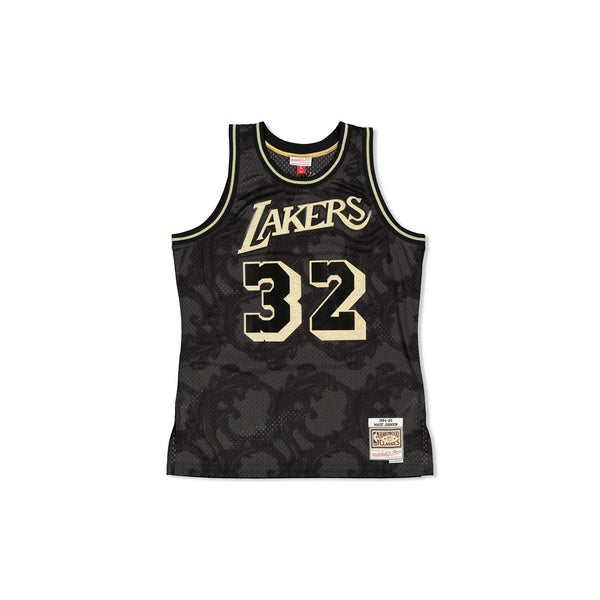 SWINGMAN JERSEY LOS ANGELES LAKERS MAGIC JOHNSON - GOLD TOILE