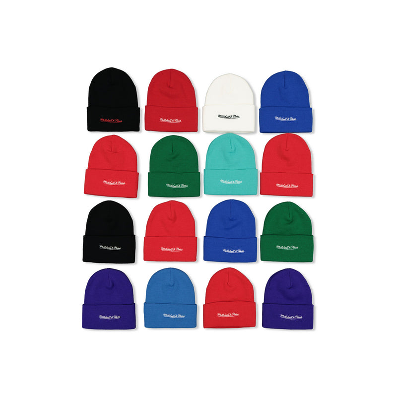 MITCHELL & NESS EMBROIDERED SCRIPT CUFFED BEANIES