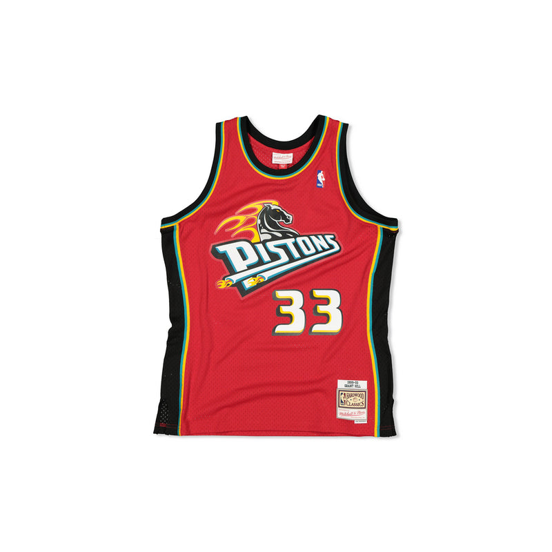 SWINGMAN JERSEY DETROIT PISTONS GRANT HILL - RED