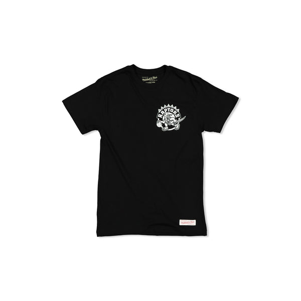 TORONTO RAPTORS LOGO WORDMARK TEE - BLACK/WHITE