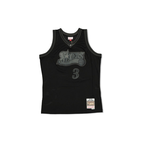 SWINGMAN JERSEY PHILADELPHIA 76ERS ALLEN IVERSION - BLACK TONAL