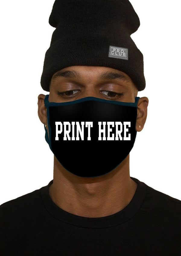 PRINT YOUR OWN COTTON FACE MASK - BLACK