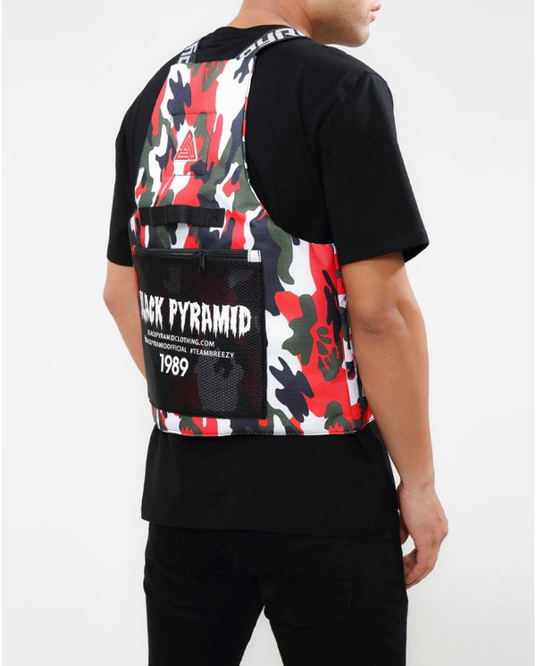 BLACK PYRAMID SPLINTER VEST - RED CAMO