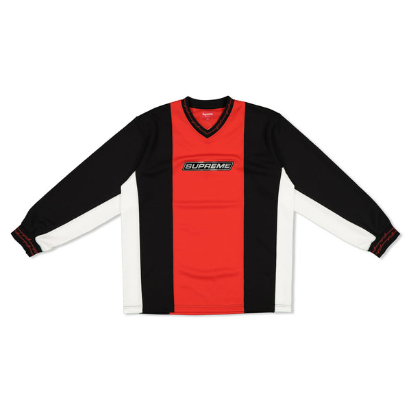 SUPREME SS19 BARBED WIRE MOTO JERSEY - RED