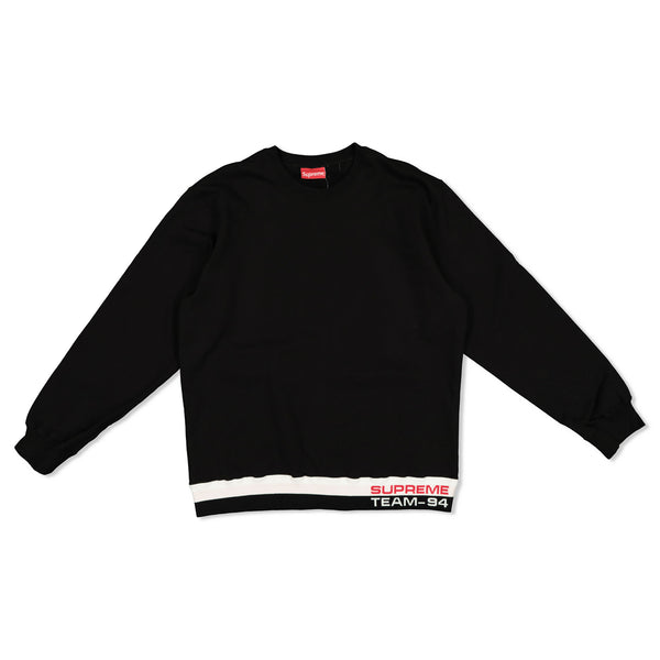 SUPREME RIB STRIPE CREWNECK SWEATER - BLACK