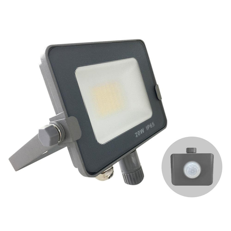 Infinity Grey Casing Tri-Colour LED Flood Light With PIR Motion Sensor