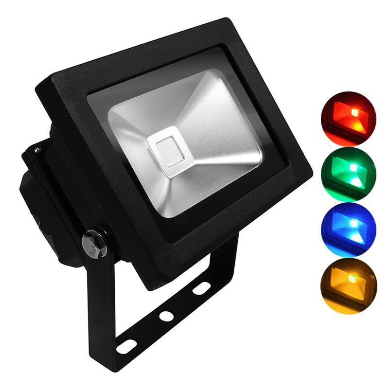 G.W.S LED Wholesale 10W Black Casing LED Coloured Flood Light