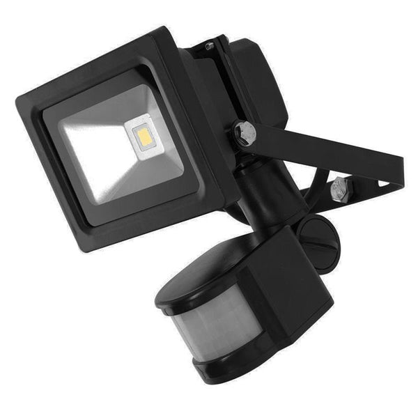 G.W.S LED Wholesale 10W Black Casing LED PIR Flood Light