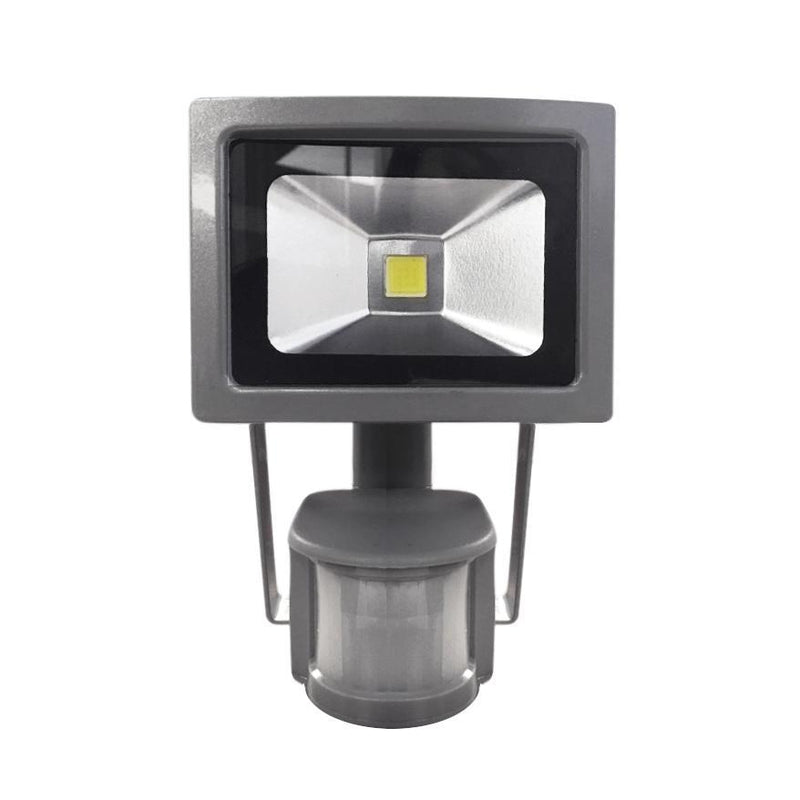 10W Silver Grey Casing LED PIR Flood Light