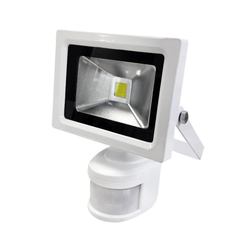 G.W.S LED Wholesale 10W White Casing LED PIR Flood Light