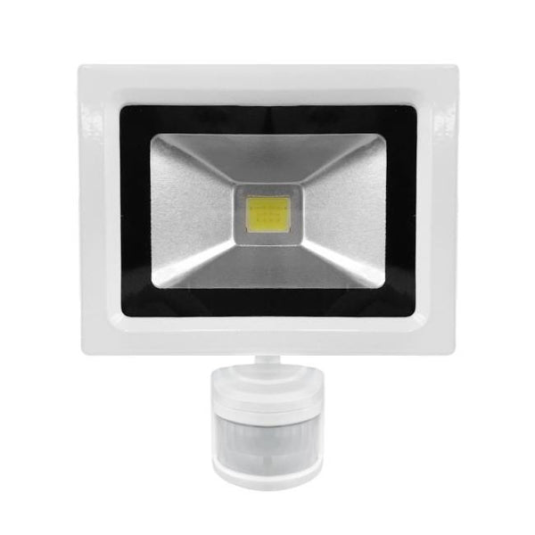10W White Casing LED PIR Flood Light