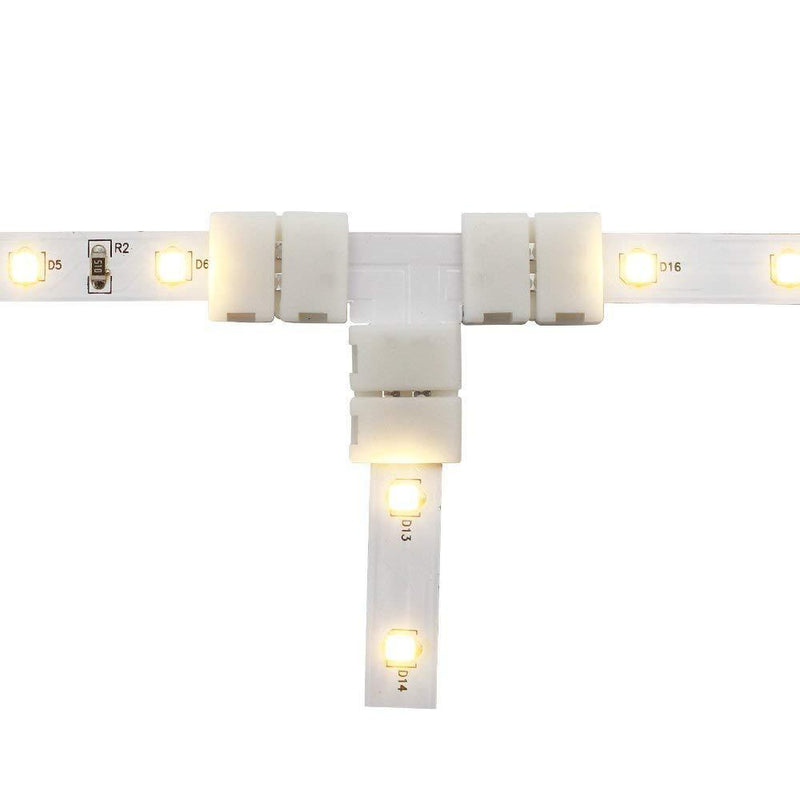 G.W.S LED Wholesale 2 Pin LED Single Colour Strip Light T Shape Connector
