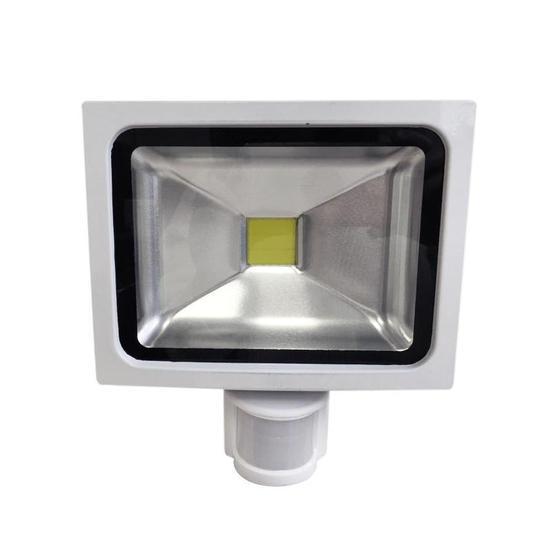 20W White Casing LED PIR Flood Light