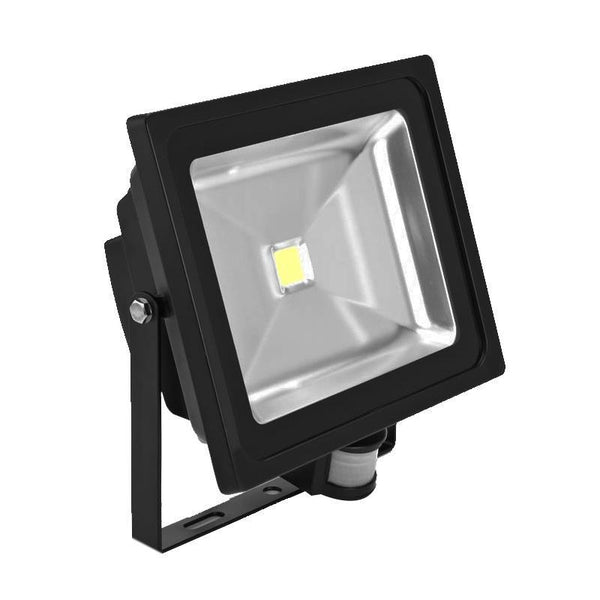 G.W.S LED Wholesale 30W Black Casing LED PIR Flood Light