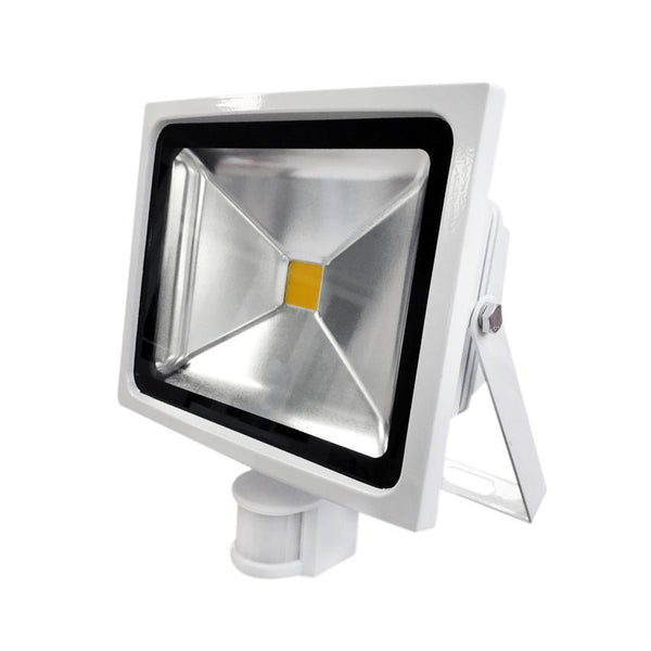 G.W.S LED Wholesale 30W White Casing LED PIR Flood Light