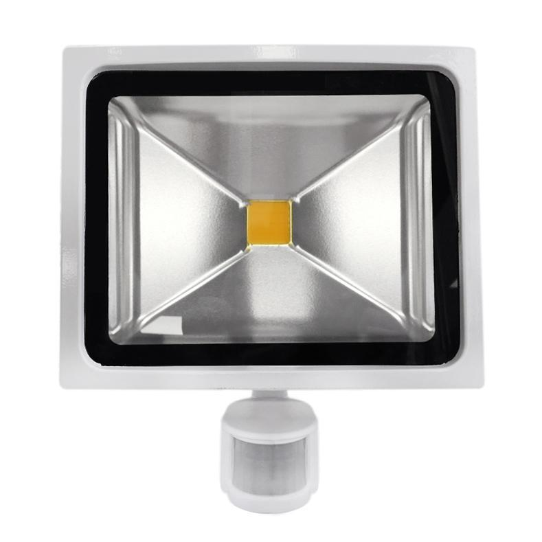 30W White Casing LED PIR Flood Light