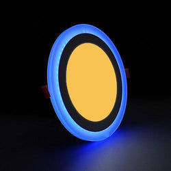 G.W.S LED Wholesale 3W+3W / Warm White+Blue / No Recessed Round Blue Edge Lit LED Panel Light