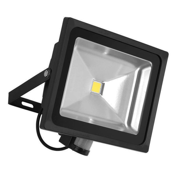 G.W.S LED Wholesale 50W Black Casing LED PIR Flood Light