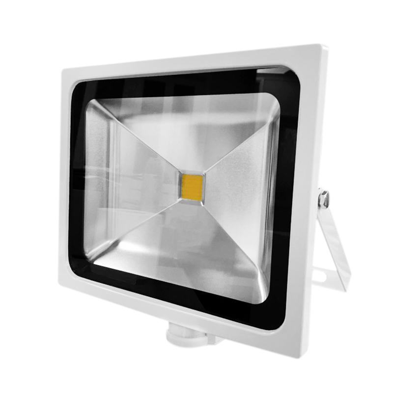 G.W.S LED Wholesale 50W White Casing LED PIR Flood Light
