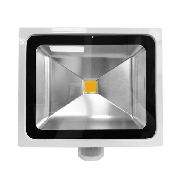 50W White Casing LED PIR Flood Light