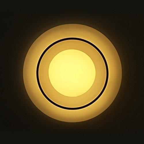G.W.S LED Wholesale 6W / Warm White / No Backlit Recessed Round LED Panel Light