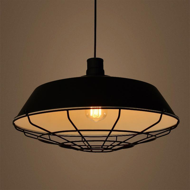 G.W.S LED Wholesale Black Cone Cage (PD-B6) Pendant Ceiling Light