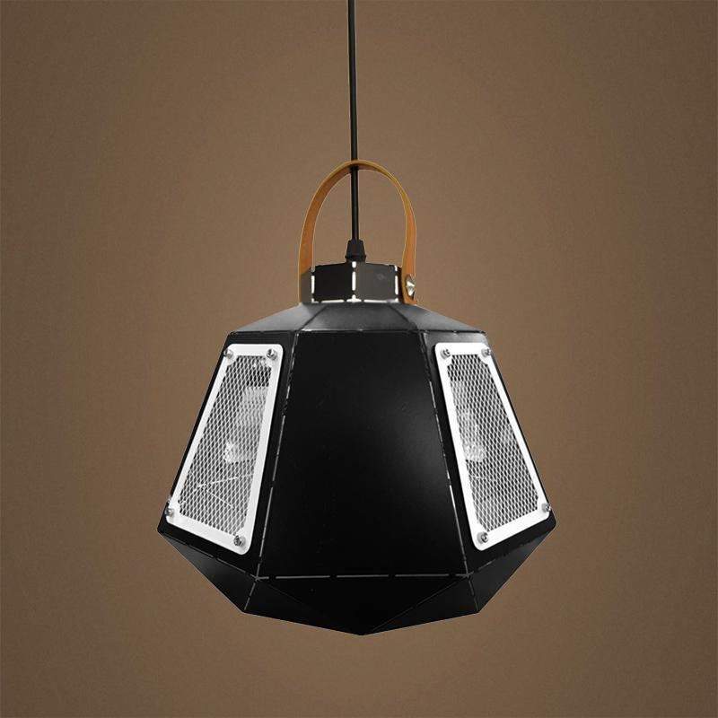 G.W.S LED Wholesale Black & White Cage (PD-BX) Pendant Ceiling Light