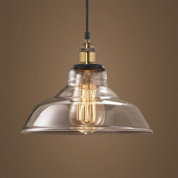 G.W.S LED Wholesale Curved Clear Glass (PD-G1) Pendant Ceiling Light