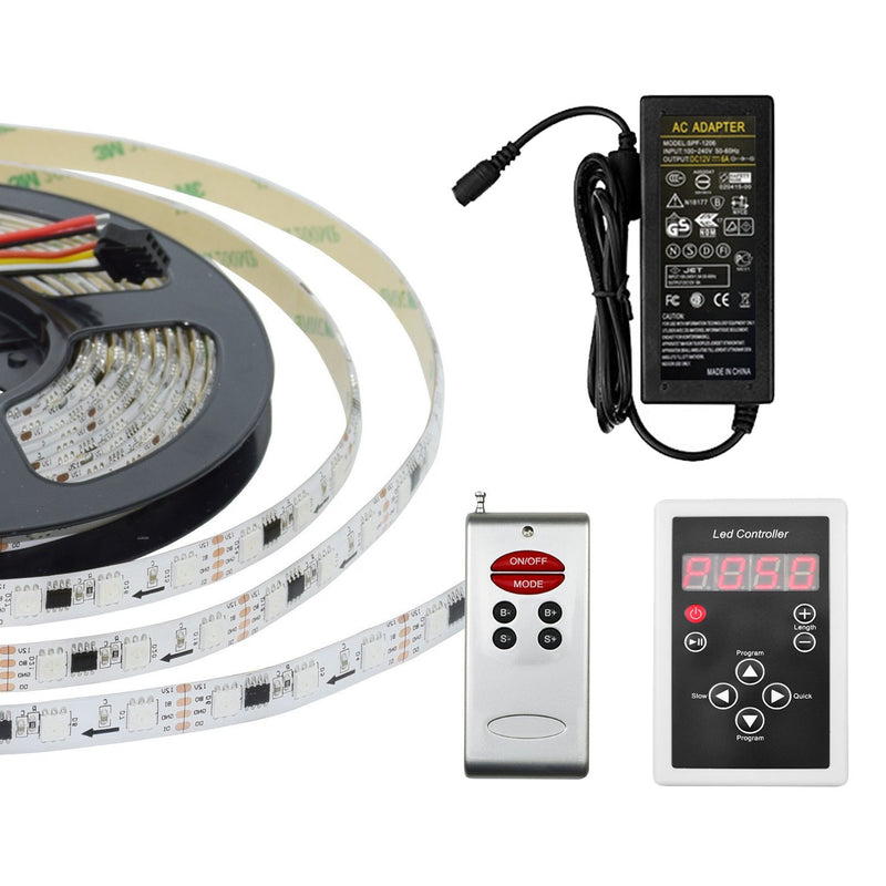 G.W.S LED Wholesale Full Kit (With Power Supply) IP65 5050 5 Meters 300 LEDs Dream Colour Strip Light
