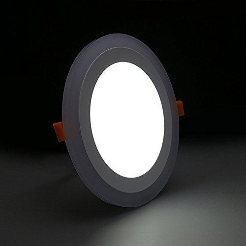 G.W.S LED Wholesale Recessed Round Blue Edge Lit LED Panel Light