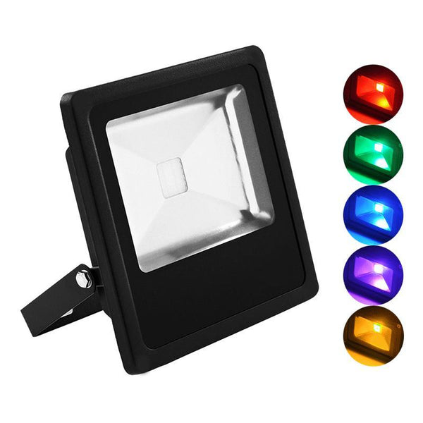 G.W.S LED Wholesale Slimline 20W Black Casing LED Coloured Flood Light