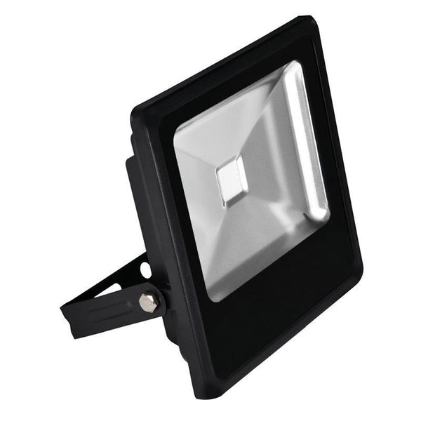 G.W.S LED Wholesale Slimline 30W Black Casing LED Coloured Flood Light