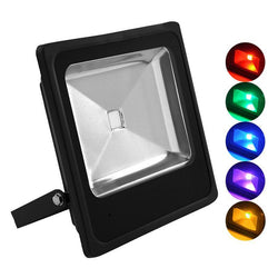 G.W.S LED Wholesale Slimline 50W Black Casing LED Coloured Flood Light