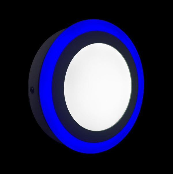 Surface Mounted Round Blue Edge Lit LED Panel Light