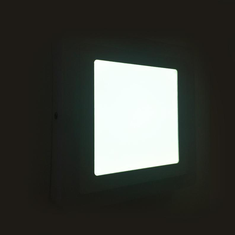Surface Mounted Square Blue Edge Lit LED Panel Light