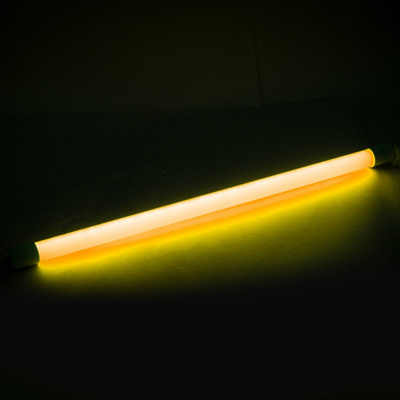 T8 2FT Single End Feed LED Tube Light Amber