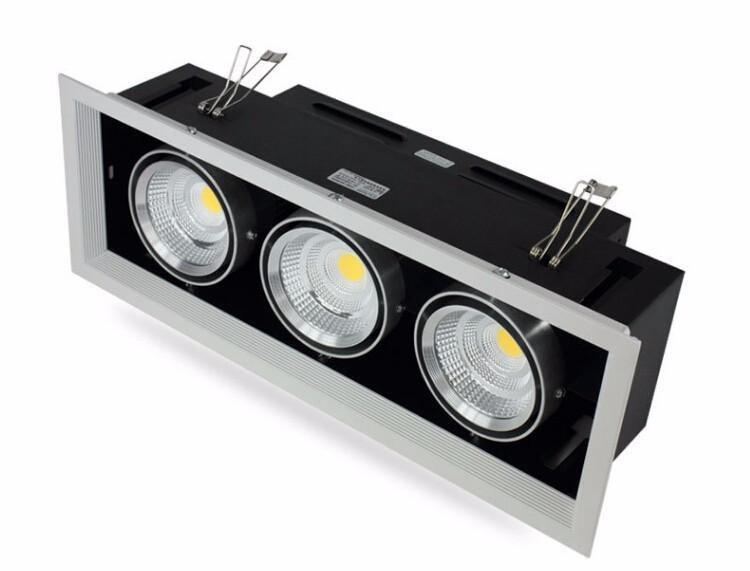 G.W.S LED Wholesale Triple Commercial LED COB Downlight
