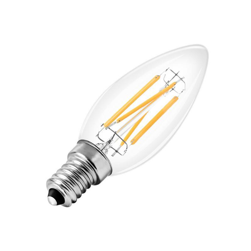 G.W.S LED Wholesale Vintage Style Dimmable E14 4W LED Filament Candle Light Bulb