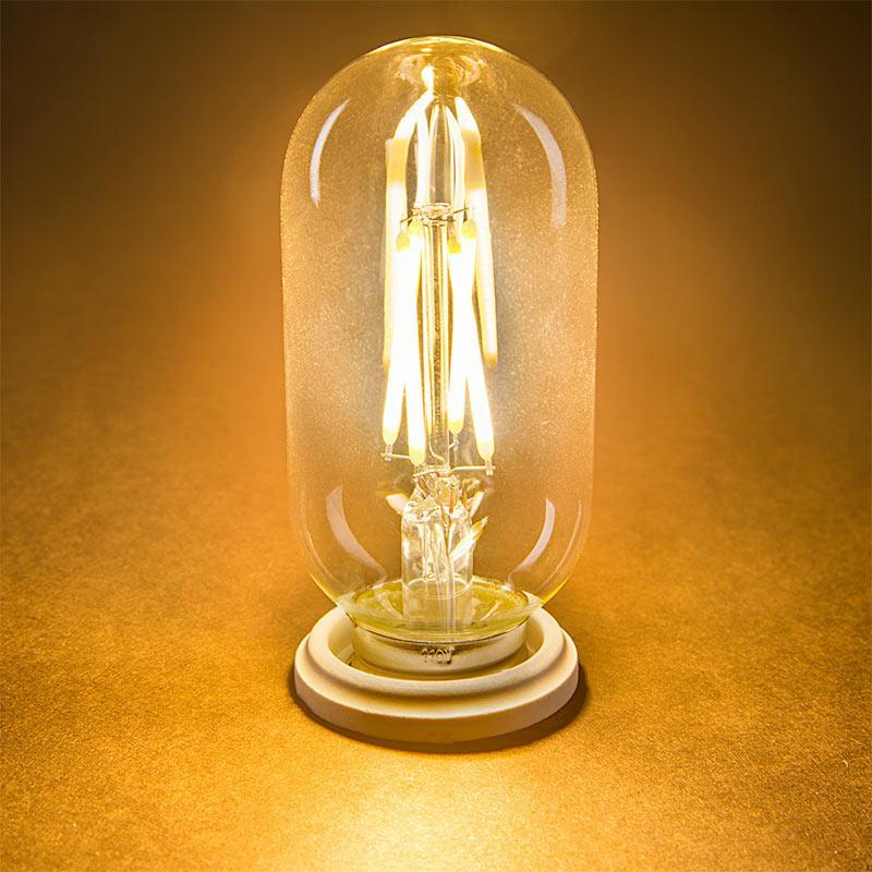 G.W.S LED Wholesale Vintage Style Dimmable E27 4W LED Filament Tubular Light Bulb (T45)
