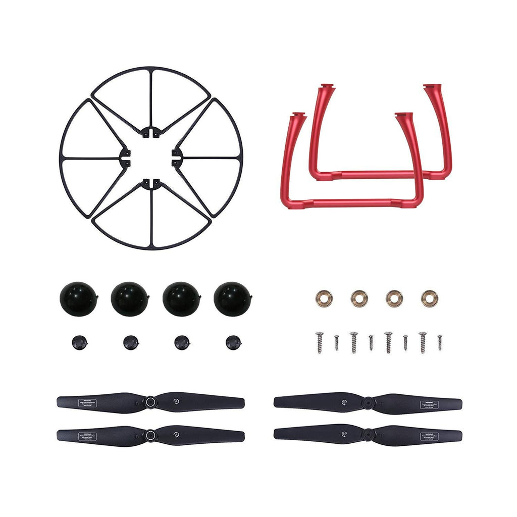Propellers Blades and Landing Gears for HS100 Drone Color Red