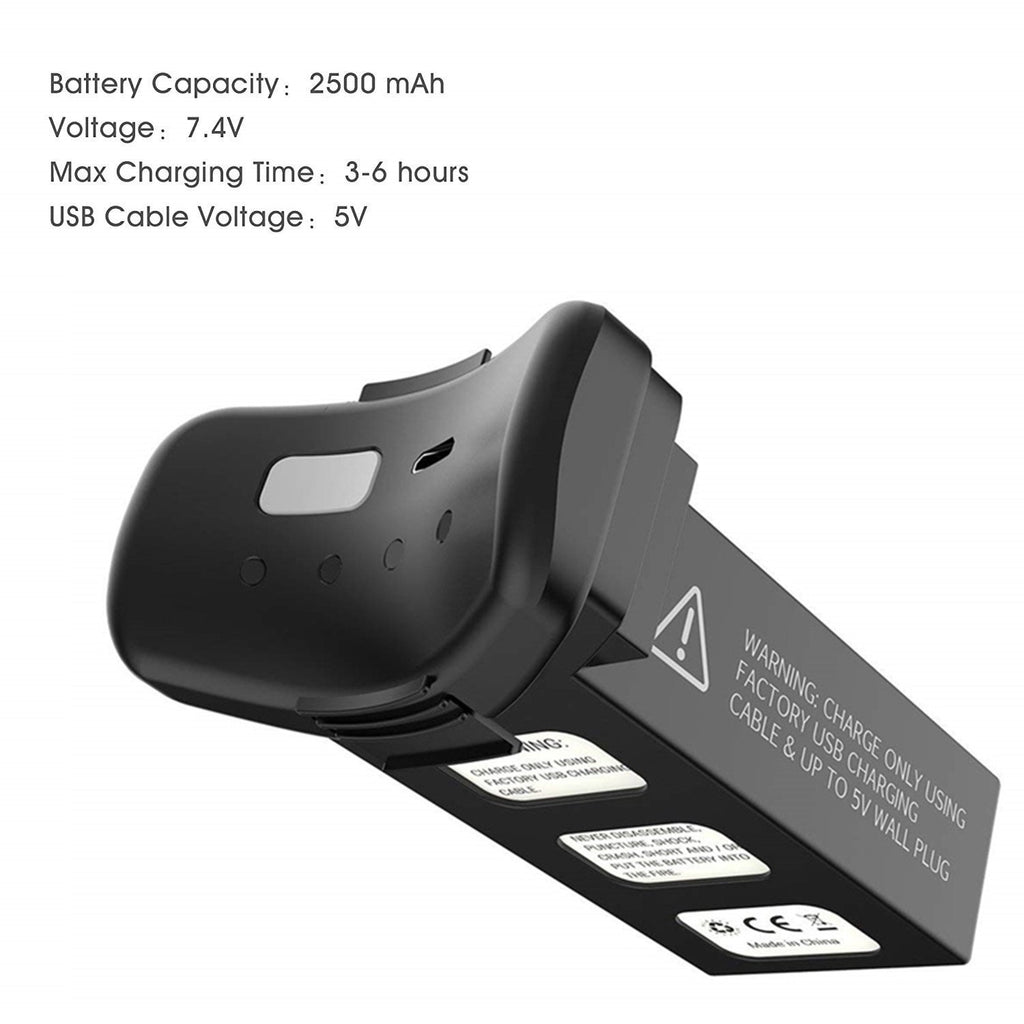 7.4V 2500mAh Modular Rechargeable Li-Po Battery for Holy Stone HS100 GPS RC Quadcopter Drone