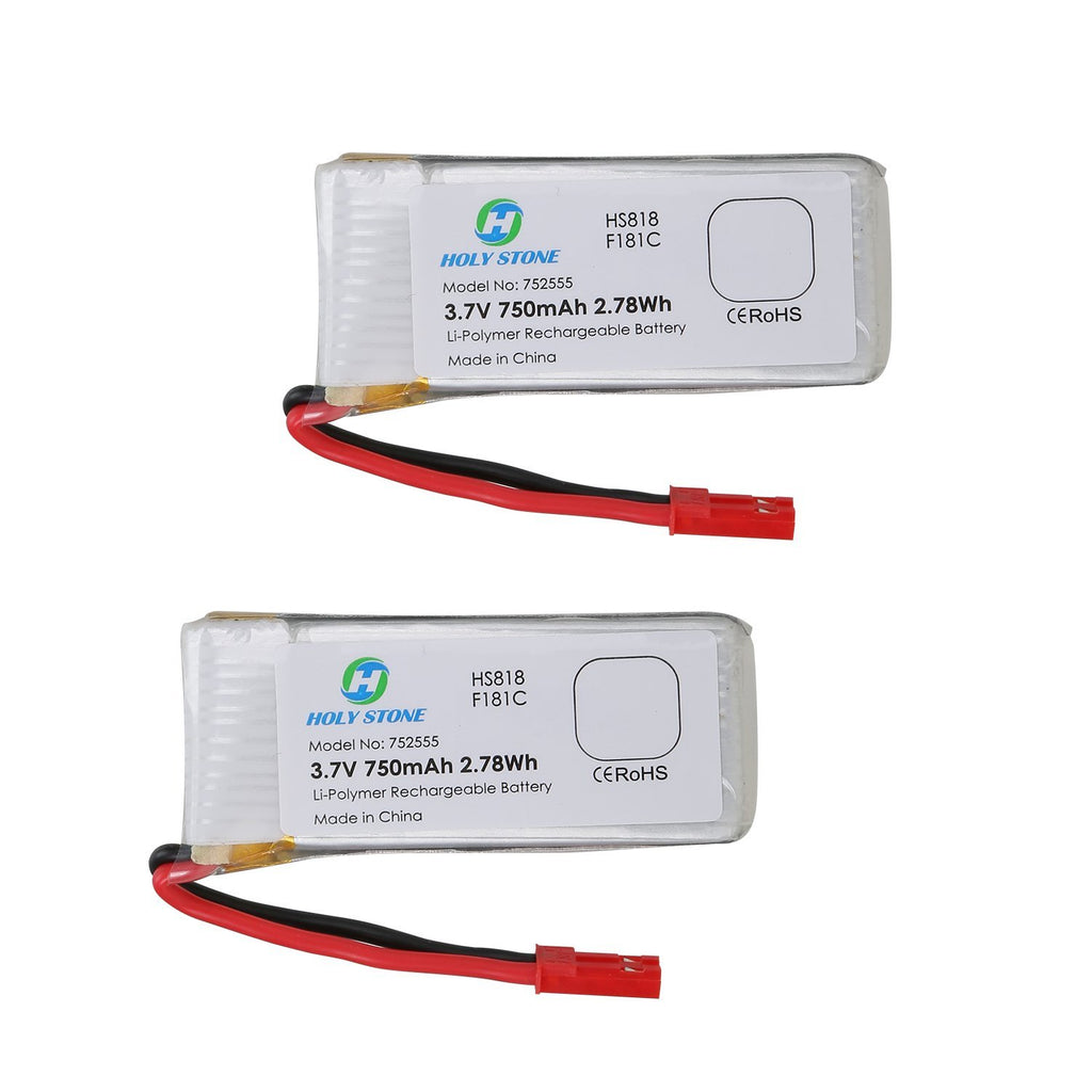 2 x 3.7V 750mAh Lipo Battery for RC Quadcopter F181