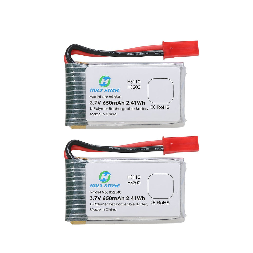 2PCS 3.7V 650mAh Rechargeable Li-Po RC Drone Batteries for HS110W,HS200W