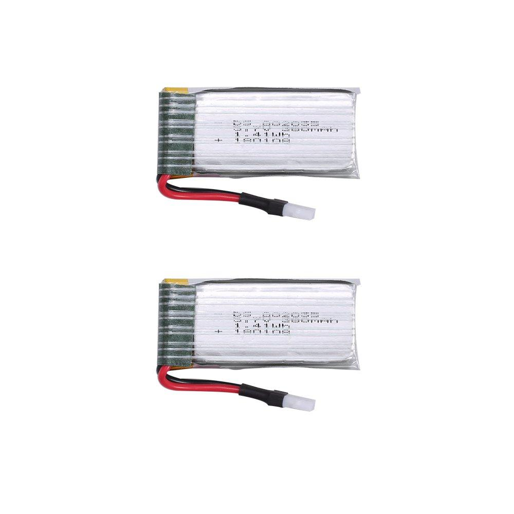 2pcs 3.7V 380mAh Lipo Battery for The Controller/Transmitter of RC Quadcopter Drone HS230