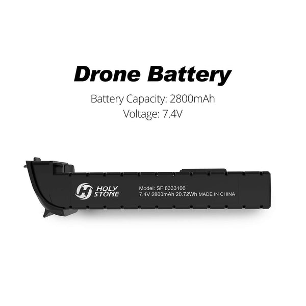 2800mAh 7.4V Modular Rechargeable Li-po Battery for RC Quadcopter Drone HS700 Black
