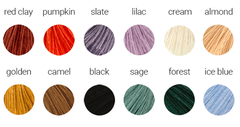 tassel color chart
